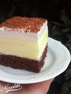 Hevesi krémes | Nassolda Hungarian Desserts, Hungarian Recipes, No Bake Desserts, Healthy Desserts, Dessert Recipes, Creative Cakes, Winter Food, Coffee Cake, Sweet Recipes