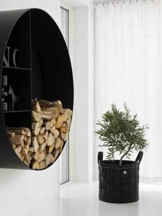 Storage: Wall-Mounted Log Holder : Remodelista