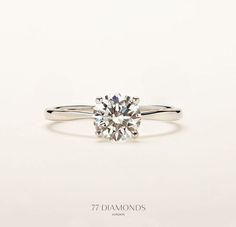 Simply timeless - our 'Delicacy' classic engagement ring. #engagementrings #77Diamonds #diamonds. Perfect. http://www.pinterest.com/pin/357402920400685732/