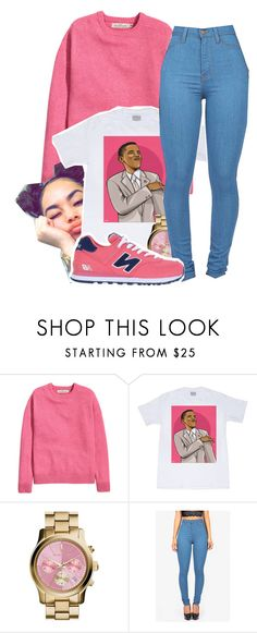 """Obama Swag"" by dajvuuloaf ❤ liked on Polyvore featuring H&M, MICHAEL Michael Kors and New Balance"