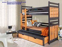 jual tempat tidur anak kembar tingkat tangga laci model