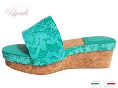Zeppe Donna Basse Moda 2021 Ciabatte Zeppa in sughero Color Tiffany   LA RAPIDA Cork Wedges, Ciabatta, Tiffany, Shoes, Fashion, Elegant, Moda, Zapatos, Shoes Outlet