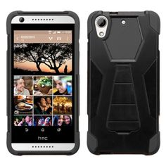 Insten Hard PC/ Silicone Dual Layer Hybrid Phone Case Cover with Stand For HTC Desire 626 #2139400