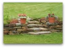 Image result for small retaining wall on slope