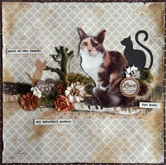 """Fur Baby"" Layout by Linda T. for Kaisercraft 'Furry Friends' collection ~ Scrapbook Pages 3"