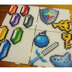 Zelda stuff perler beads by davidnilssonart