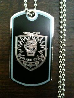 Call of Duty Black Ops Dog Tag by IMPRESSIONSNV ($10)