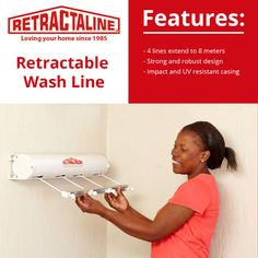 The large retractable washline is the product that launched a brand at and has become a South African icon. Order yours today using the link below.