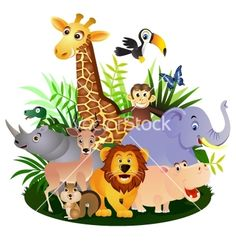 Animal cartoon vector on VectorStock®