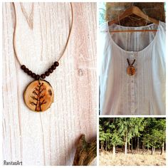 Tree wood necklace from Ranitasart Etsyshop (10% discount coupon PIN10)