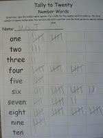 Mrs. T's First Grade Class: Tally to Twenty