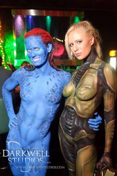 Body nude paint cosplay mystique excellent and