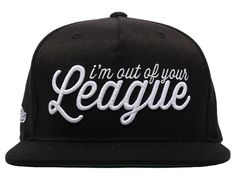 League Script Snapback Cap by HALL OF FAME