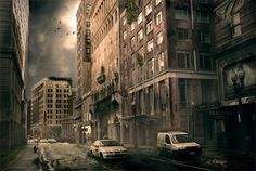 Post Apocalyptic Chicago in Stunning Post Apocalypse Artworks