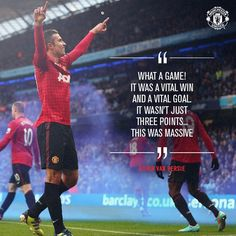 Robin van Persie on Derby Manchester