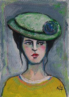 Meredith  - Original Portrait Painting by Roberta Schmidt  ArtcyLucy on Etsy.com