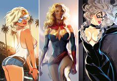 Hullun siistejä, ehkä vähän seksistisiäkin kuvia... pinuppii, comicsii jne
