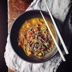 Turmeric-Miso w/Shiitakes, Turnips, & Soba Noodles // Dolly And Oatmeal. Find this #recipe and more on our Feel Better Feed at https://feedfeed.info/feel-better?img=211635 #feedfeed