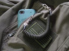 OD Green 550 Paracord Recoil Lanyard fits Molle Pouche EDC Backpack Alice Pack