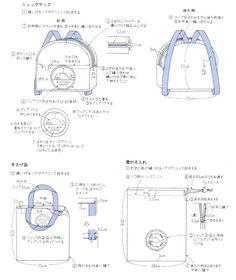 pattern + tutorial backpack kids