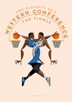 NBA playoffs 2014 by Davide Barco, via Behance