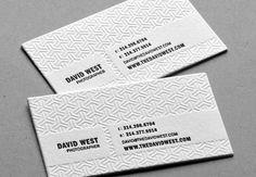 david west business card design