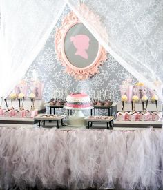 Vintage Princess Tutu Baby Shower!