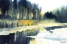 Since we've been the go-to site for watercolor techniques, watercolor painting ideas & watercolor tutorials. Watercolor Landscape Tutorial, Watercolor Scenery, Watercolor Artists, Watercolor And Ink, Watercolor Paintings, Watercolors, Landscape Art, Landscape Paintings, Landscapes