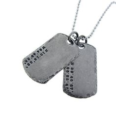 Personalized Coordinate Dog Tag Necklace