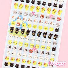 Kawaii Neko Mini Balloon Stickers