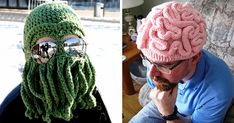 108 Cool Winter Hats That Will Keep You Warm - Knitting and Crochet Free Crochet, Knit Crochet, Crochet Hats, Totoro, Crochet Winter Hats, Warm Winter Hats, Cool Hats, Facon, Crochet Animals