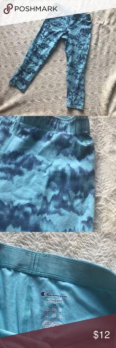 Tie Dye Leggings Cute tie-dye leggings in very good used condition. Crop length. Just don't fit anymore. Champion Pants Leggings