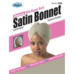 DREAM Deluxe Satin Bonnet with Elastic Back Assorted (Pack of 12) (Model: 085) by Dream. $21.50. -Superior Quality-Comfortable. Save 22% Off!