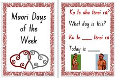 The Maori language resource includes a question and answer speaking frame chart as well as the names of the week cards. Days Of The Week Activities, Learning Activities, Teaching Resources, Sorting Activities, Chinese Lessons, What Day Is It, Teaching Aids, Childhood Education, New Zealand