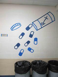 The Creative Sanctuary: Masking Tape Murals -High School Art Project