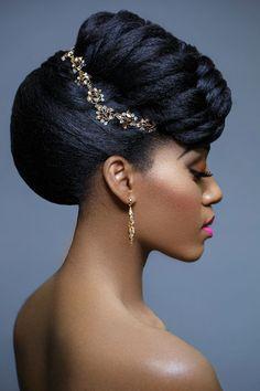 Natural Hair, Wedding Hair Style, Jewelry, Make Up, Pink Lips, Beautiful, Jewelry