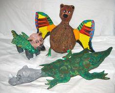 Kašírování, Paper mache, popletená zvířata