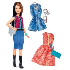 NEW! 2016 Barbie Fashionista Pretty in Paisley Doll & Fashions Petite In Stock! #Mattel