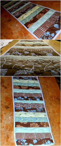 Shaffer Sisters: Hand quilted Table Runner good beginning project for beginner quilters
