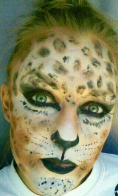 cheetah makeup Cheetah Makeup, Animal Makeup, Makeup Art, Beauty Makeup, Halloween Makeup, Halloween Costumes, Theatrical Makeup, Makeup Looks, Make Up