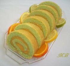 Gâteau roulé aux trois agrumes