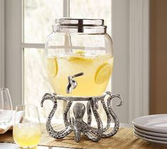 Octopus Drink Dispenser Stand | Pottery Barn