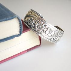 Sterling Silver Cuff Bracelet  Marked S Kirk and by TheFullGarage, $210.00 - I WANT THIS!
