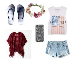 """""""#beachday #beachwear #gogirl"""" by khushbugupta on Polyvore featuring Topshop, The Laundry Room, American Eagle Outfitters and Armani Exchange"""