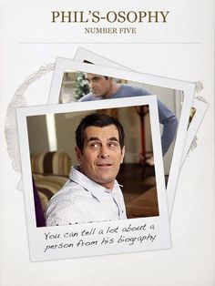 10 Phils Osophy Ideas Modern Family Funny Phil Phil Dunphy
