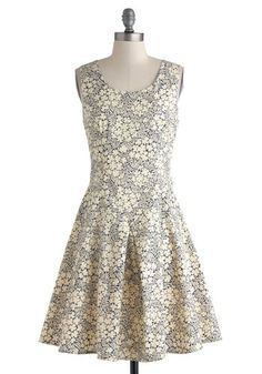 Cute sundress, with a grown up print and a flattering cut.  Open Air Afternoon Dress, #ModCloth