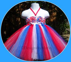 Red white blue tutu PICK ANY SIZE Patriotic by Designsbymarlo, $39.50