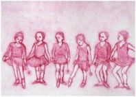 """Limited edition etching """"Six Ballerinas"""" by contemporary British printmaker Mary Cossey. Motion Photography, Dance Movement, Dance Art, Henri Matisse, Printmaking, Aurora Sleeping Beauty, Ballerinas, Mary, Disney Characters"""