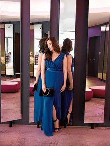 Burda Style: Damen - Plus (bis Größe 60) - Kleider & Tuniken - Knöchellanges Empirekleid