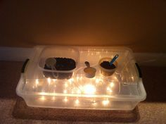 how cool for a party!! diy light table!!